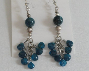 African Apatite Earrings  -  #252