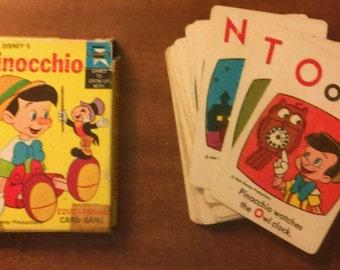 1967 Walt Disney Pinocchio Card Game by ED-U-CARDS