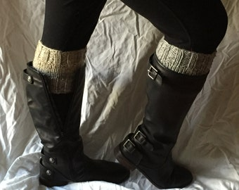 Knit Boot Cuffs 2 color reversible