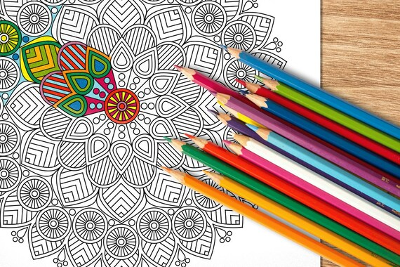 Mandala Adult Coloring Pages Set Of 4 Colouring