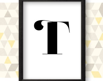 Typography letter t