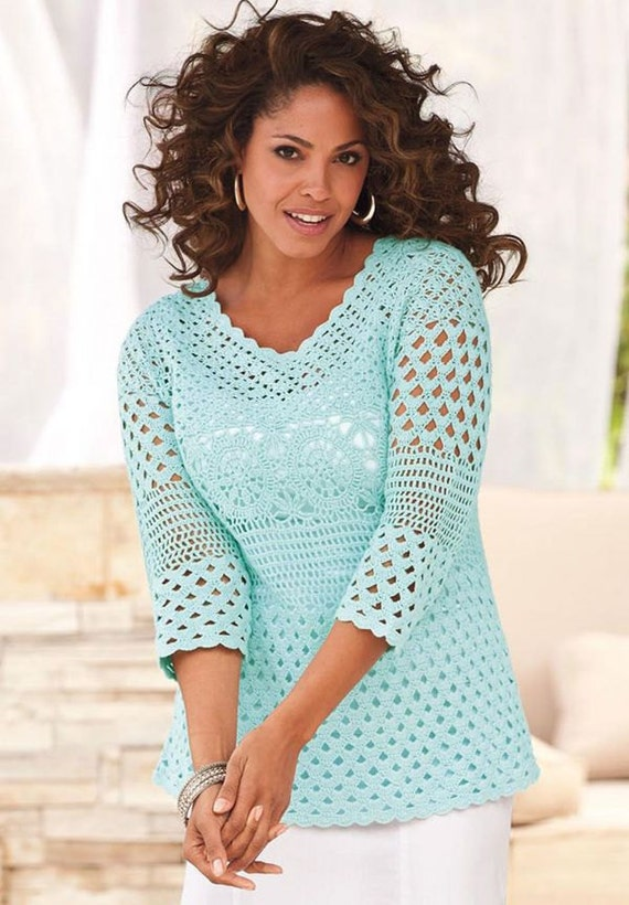 Plus Size Crochet Pattern Pdf Tutorial Detailed Hq Charts Etsy