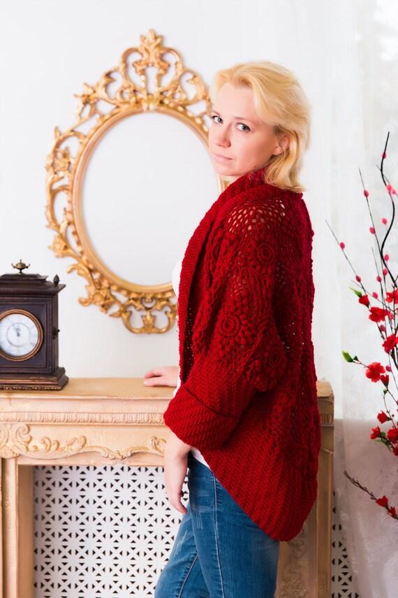 Crochet Cardigan Pattern Wool Pattern Tutorial Motifs Etsy