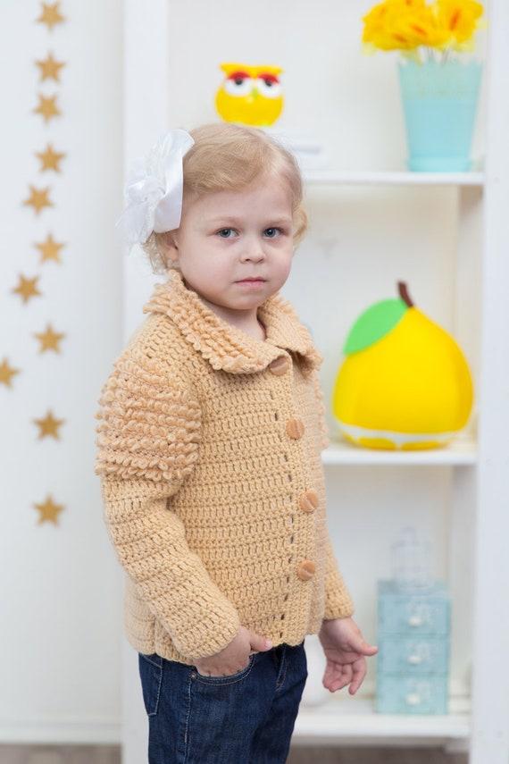 Crochet Pattern Cardigan For Girl Crochet Patterns For Etsy