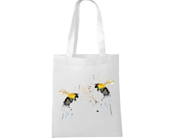 Bag For Bee Lovers Cool Bees Tote Bag Custom Name Bee Bag Personalized Bees Tote Bag