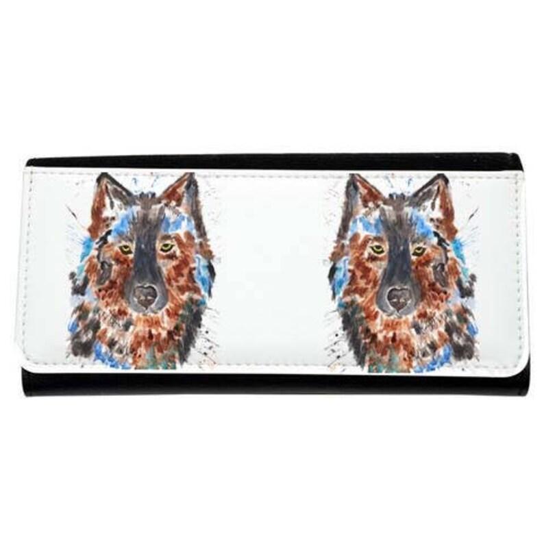 pink purse Wolf purse stylish purse wolf ladies purse animal purse navy purse black purse wolf gift large purse