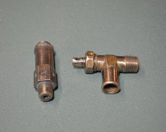 Vintage Brass Valves, Old Barrel Tap, Safety Relief Valve,  #283