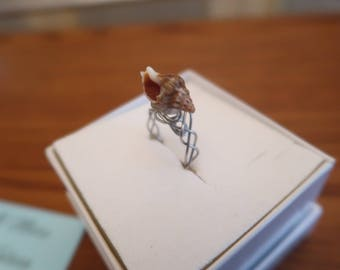 Handmade ring with real seashell