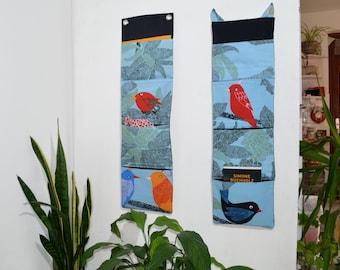 Wandutensilo Vögel - Frau Knallerbse - Die lustige Hängeaufbewahrung mit bunten Vögeln schafft Ordnung