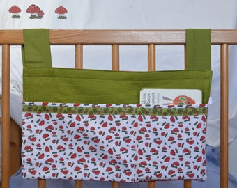 SALE, Bettutensilo, Mushrooms - Mrs. Popper's Pea - For diapers, wet wipes, drinking bottle. Practical at the crib, running stable, high chair