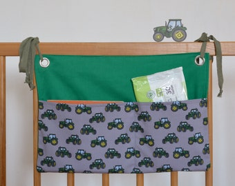 Tractor - Bed groove silo and wall groove silo in one - Mrs. pop pea - For diapers, wet wipes, drinking bottle or cuddly toy, tractor
