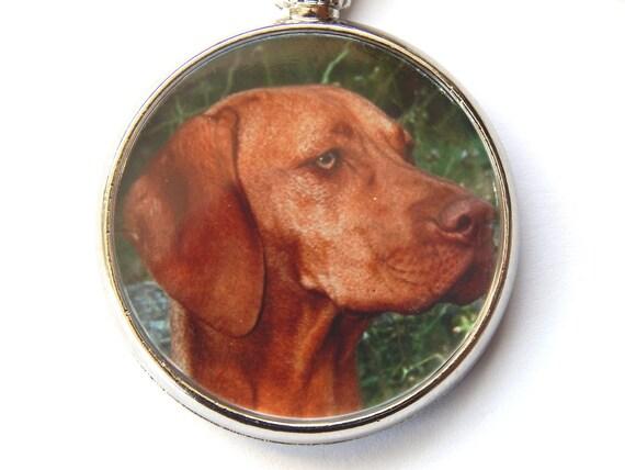 HUNGARIAN VISZLA Dog Puppy Quality Leather and Chrome Keyring