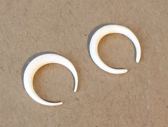 New In Package Hand Carved Water Buffalo Bone Gauged Earrings Etsy