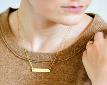 Mother Bar Necklace Mothers day Gift From Daughter Mommy Necklace Godmother Gift Custom Morse Code Necklace Secret Message Necklace