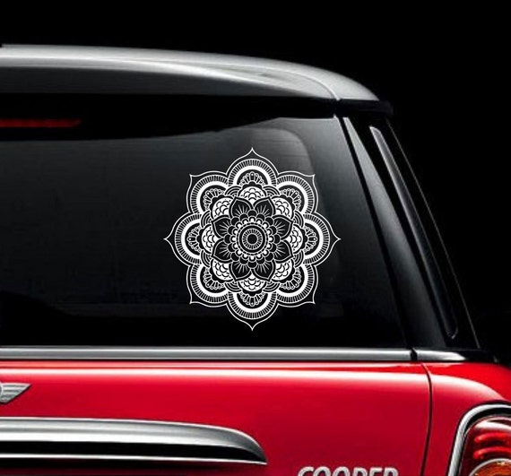 SELECT SIZE Om Lotus Black Car Vinyl Sticker