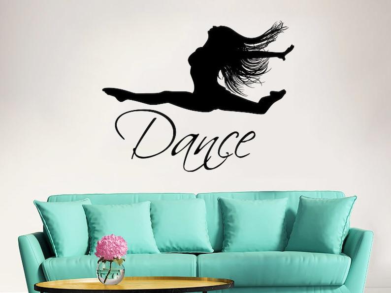 dance wall decal vinyl sticker decals ballet dancing ballerina | etsy
