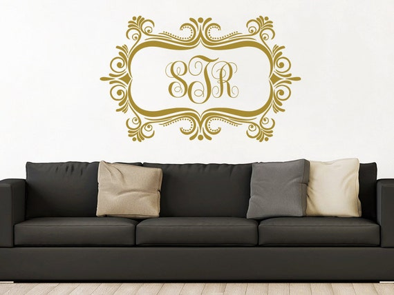 Monogram Wall Decals Personalized Sticker Name Monogram Decal Family Decal S9
