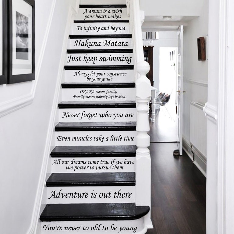 Stair Decals Disney Quotes Stairway Decals Quote 13 Steps Etsy