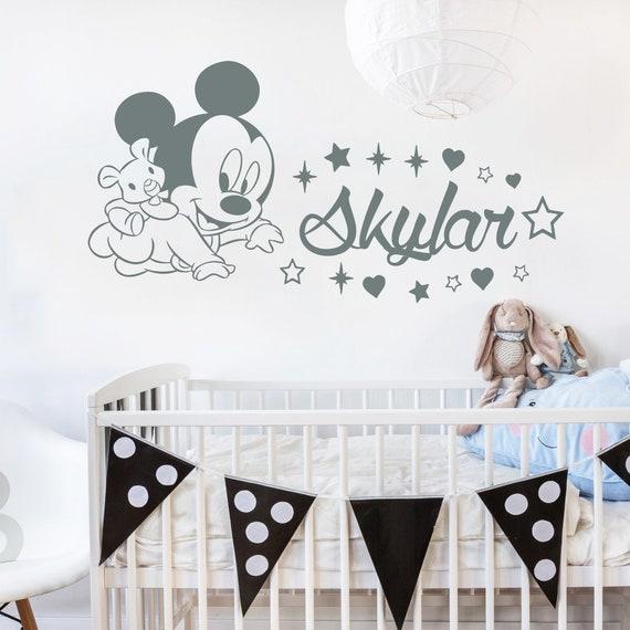 Name Wandtattoo Aufkleber Baby Mickey Maus Vinyl Aufkleber | Etsy
