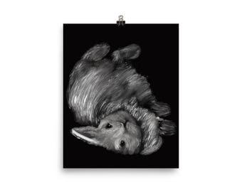 NURSERY DECOR, Poster, Wall Art , Nursery Art, Prints, Rabbits, Bunnies, Art Print