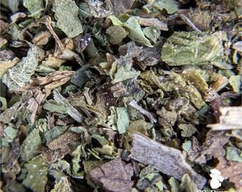 Comfrey leaf, certified organic; bunny treat, guinea pig treat, hay topper, hay treat