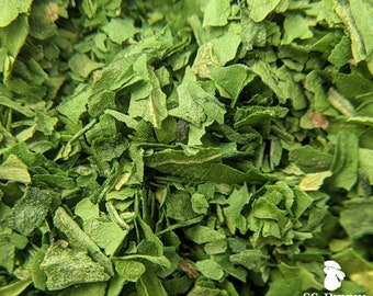 Spinach, certified organic; bunny treat, guinea pig treat, hay topper, hay treat
