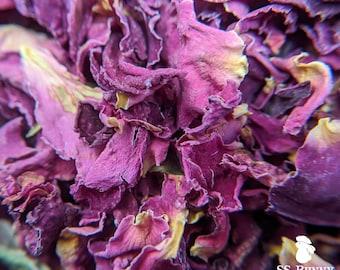 Red rose petals, certified organic; bunny treat, guinea pig treat, hay topper, hay treat