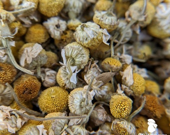 Whole chamomile flowers, certified organic; bunny treat, guinea pig treat, hay topper, hay treat