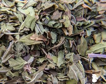 Peppermint leaf, certified organic; rabbit treat, guinea pig treat, hay topper, hay treat