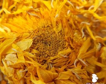Whole calendula flowers, certified organic; marigold bunny treat, flower guinea pig treat, hay topper, hay treat