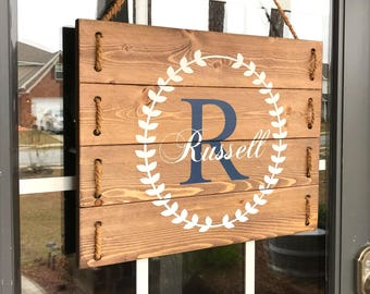 Last Name Establish Sign- 5th Anniversary Gifts for Her- Wedding Gifts for Couple- Birthday Gifts for Her- Engagement Gift Ideas- Home Gifts