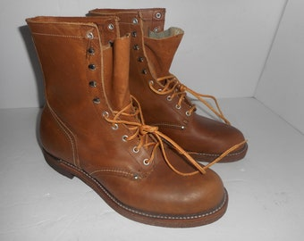 Union Hytest Vintage Made in USA en cuir marron Biker moto