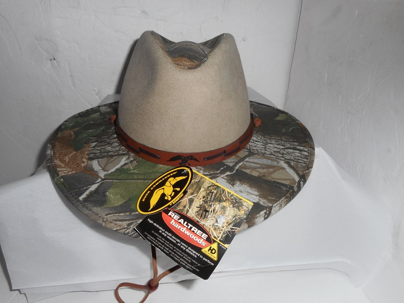 de66980be On Sale New Old Stock Resistol Duck Commander Weastern Hat Premium Felt  With Realtree Camo Leather Band Size Large Fits Like 7 3/8