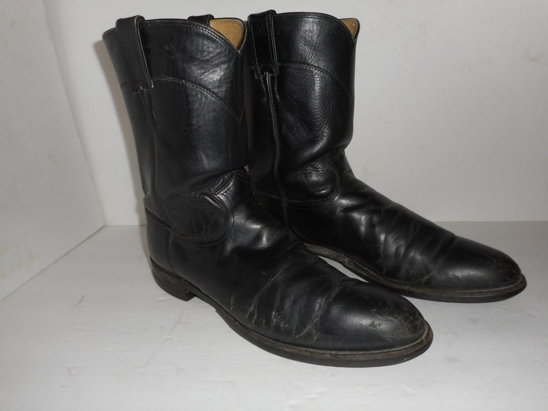 4c333117f0b ON SALE Men's Justin Boots Motorcycle Work Western Pull Ups Size 12 A