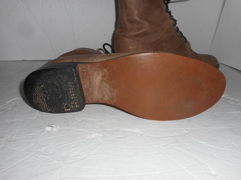 20/% OFF Women Size 5M Vintage Justin Brown Leather Roper Boots Women