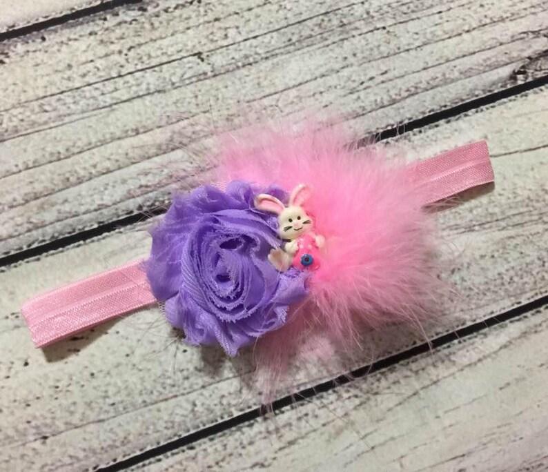 Easter headband Easter Baby Headband Easter Bunny Headband Easter Headbands Easter hairbow Pink Lavender Easter headband baby toddler girl