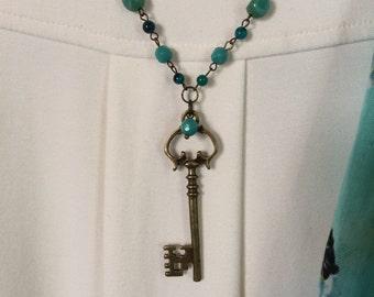 Antique Look Key Necklace