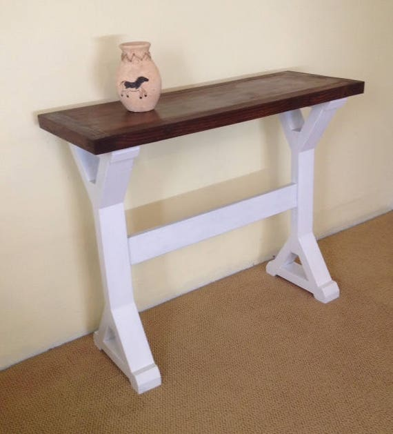 Unique Sofa Tables: Rustic Solid Wood Console Handmade Sofa Table Solid Wood