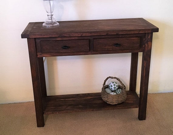 Enjoyable Rustic Solid Wood Console Handmade Sofa Table Solid Wood Farmhouse Sofa Table Entryway Table Buffet Table Rustic Sofa Table Squirreltailoven Fun Painted Chair Ideas Images Squirreltailovenorg