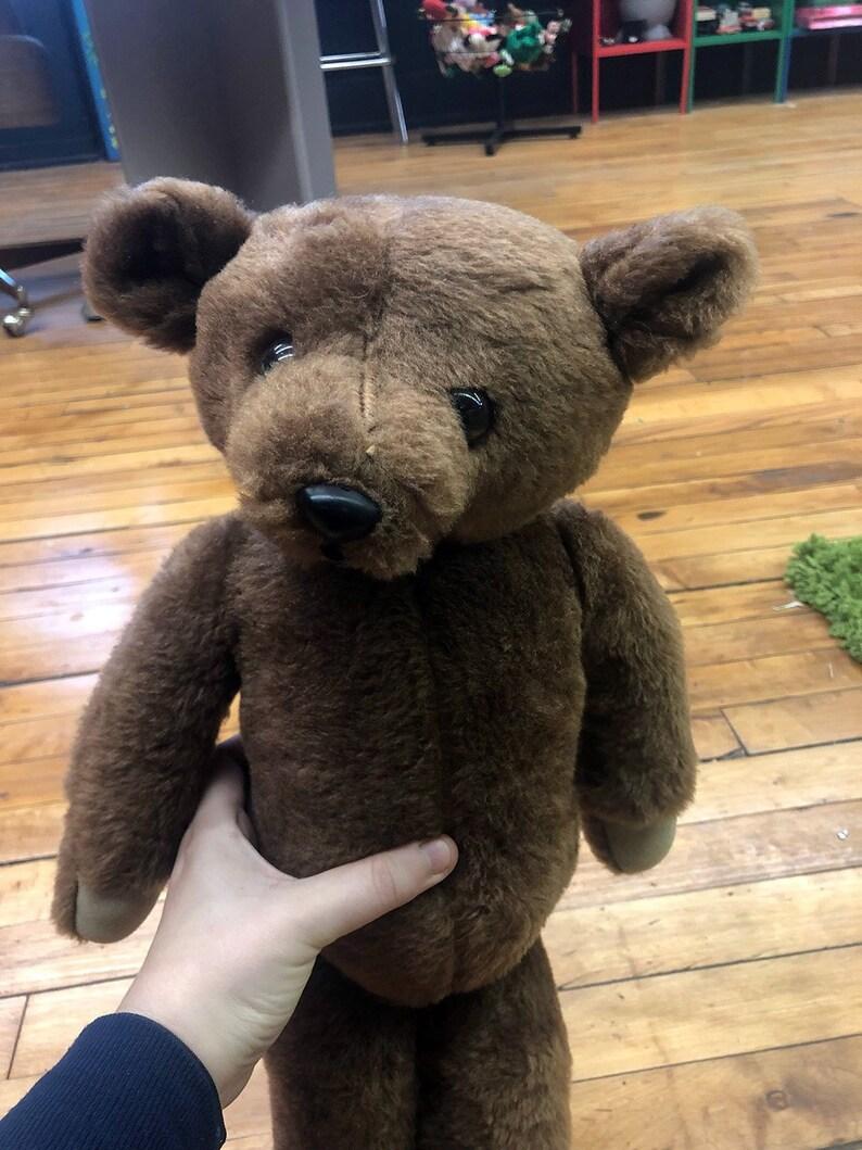 con tesoroEtsy Antico grande orsacchiotto marrone delineato piedi e i Tan 3AqcjL5R4