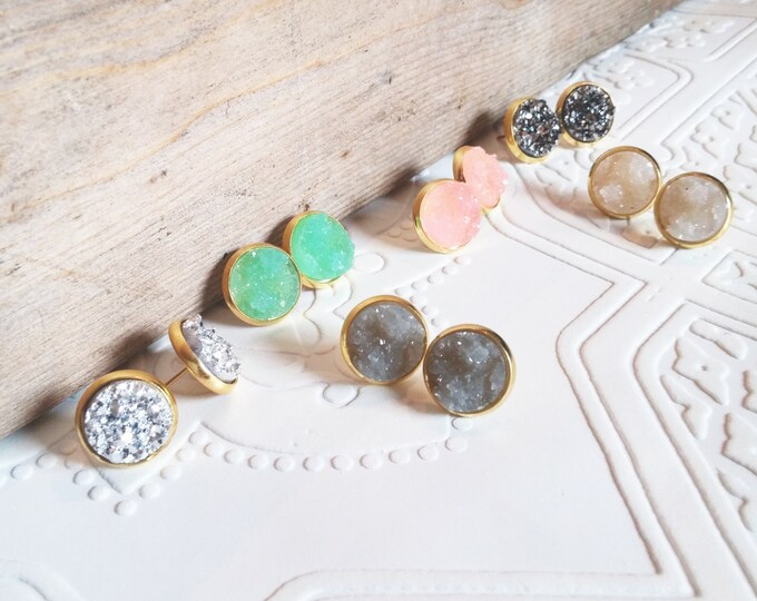 classic collection - druzy studs