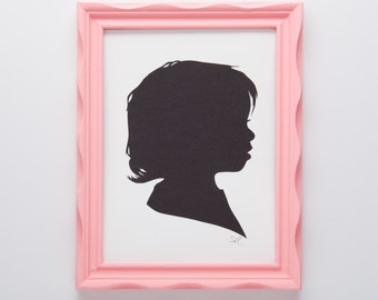 Custom baby or child silhouette portrait // first birthday gift - handmade paper art - personalized gift - nursery decor