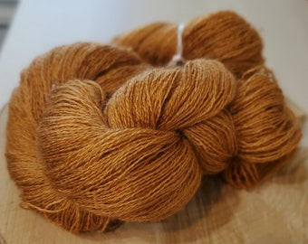 Spice, Lace Weight Yarn, Farm Grown Kid Mohair - Wool - Silk (70/20/10), Hand dyed Skein,Semi-solid, Butterfly Kisses Yarn, 438m/50g