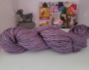 Amethyst, Fingering Weight Yarn, Farm Grown Kid Mohair - Silk - Wool (75/15/10),  Hand dyed Skein, Semi-solid, Fireweed Yarn, 355m/100g