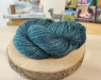 Cyprus, Fingering Weight Yarn, Farm Grown Kid Mohair-Silk-Wool (75/15/10),  Hand dyed Skein, Semi-solid, Fireweed Yarn, 355m/100g