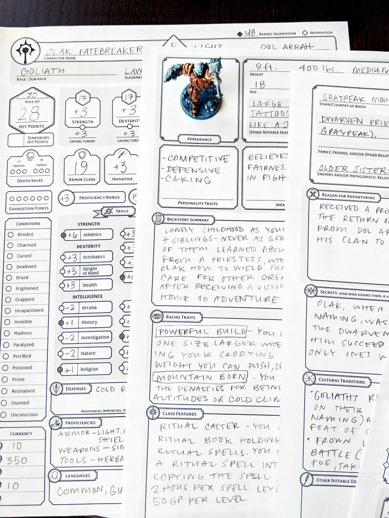 photo regarding 5e Printable Character Sheet named Cleric Personalized Temperament Sheet - DnD 5e - Printable and Sort-Fillable