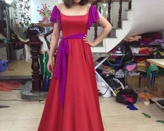 Red Esmeralda Costume, Esmeralda Costume, Esmeralda Dress,  Cosplay Costume, Esmeralda Adult Costume,