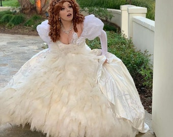 5ee9a1fbdec Giselle Wedding Dress - Enchanted film - Disney character Giselle costume