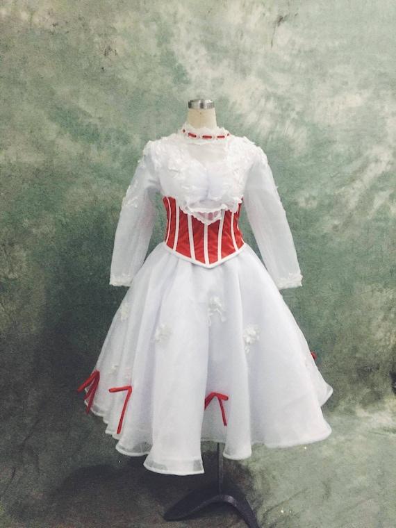 Mary Poppins Cosplay vestito  b1bca7c93e5e