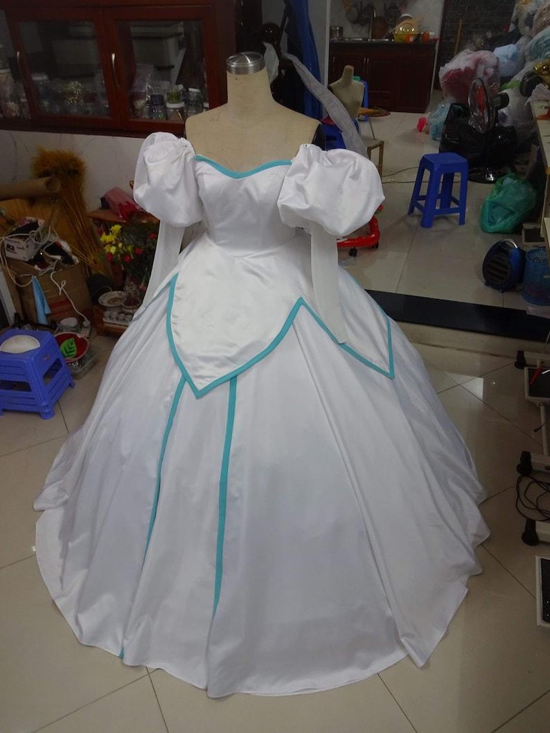 Ariel Wedding Dress , Little Mermaid Wedding , Disney Costume